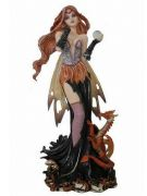 Dragon and Fairy with Crystal Ball Enchantress Figurine Statue Ornament Gift